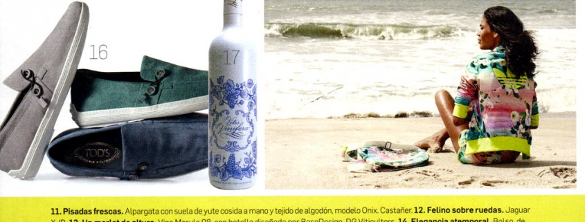 A bottle of Vitis Vinifera recommended in the prestigious Architecture and Design magazine :: Bodegas Nestares Rincon