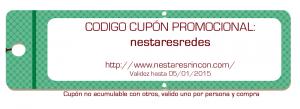 Cupón para la oferta de la tienda online
