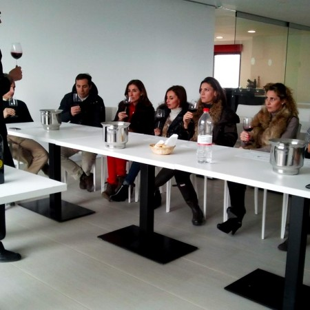 Experiencing a tasting of our wines :: © Bodegas Nestares Rincon
