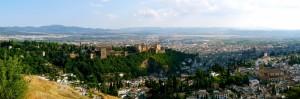 Vistas de Granada desde San Miguel Alto, Sacromonte :: Bodegas Nestares Rincón, Alpujárride