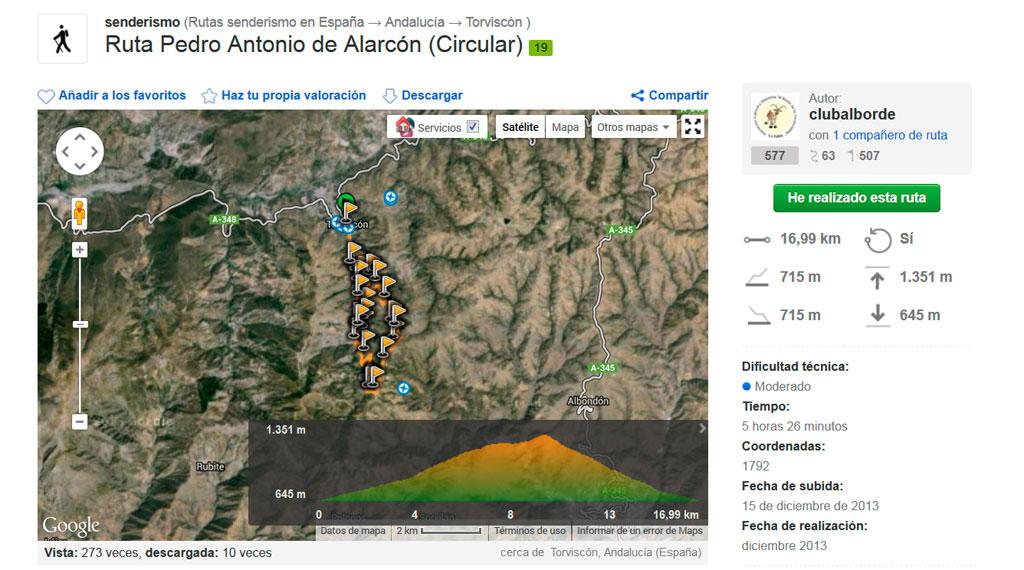 Ruta Pedro Antonio de Alarcón :: Senderismo - Torvizcón :: Alpujárride © Bodegas Nestares Rincón